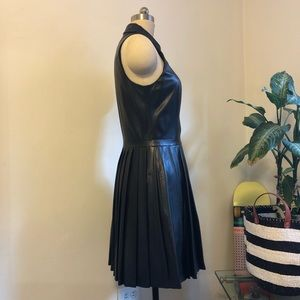 Armani Exchange Dresses - A/X ARMANI EXCHANGE BLACK LAMBSKIN LEATHER DRESS